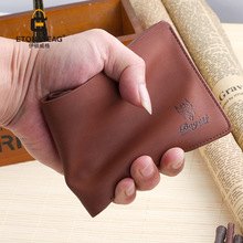 Genuine man purse wallets Japan short Wallets Mens students vertical cross section thin youth simple wallets men billfold purse