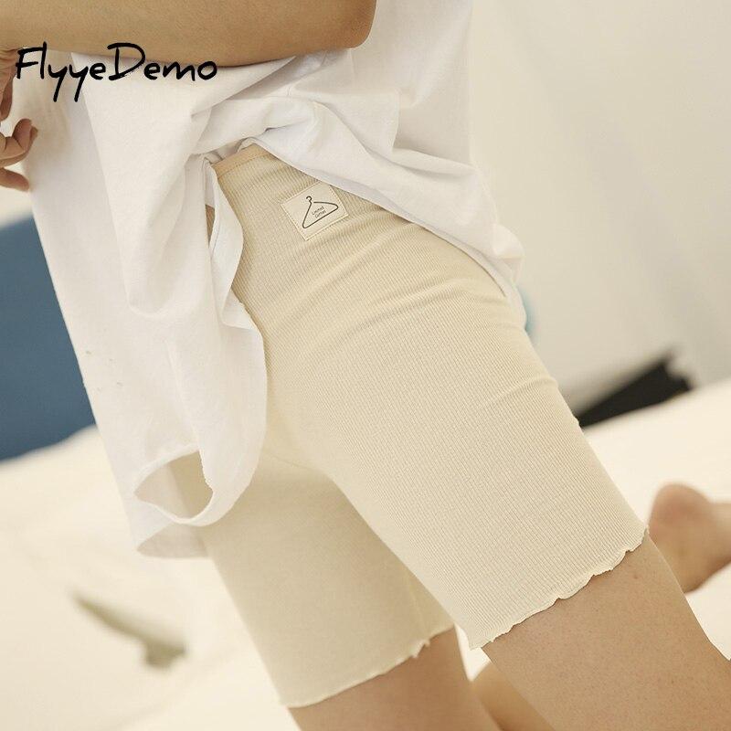 ebe7e1aad2025e 2018 Hot Sale Knee Length Summer Autumn Short Leggings Under Skirts For  Women Pure Cotton Elastic Women Underpants | My Shop Name