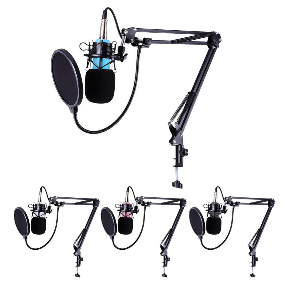 BM-700 Professional Studio Microphone Sound Recording Broadcasting Condenser Microphones Wired Mic KTV Mic+ Shock Mount professional recording studio condenser microphone bm700 set mic mikrofon karaoke microfono pc with shock mount microphone stand
