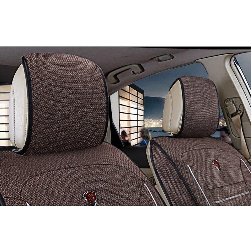 Kokololee универсальные льняные автомобильные чехлы для сидений для Jeep все модели Jeep Grand Cherokee и Renegade compass Commander Cherokee автомобильные аксессуары - 4