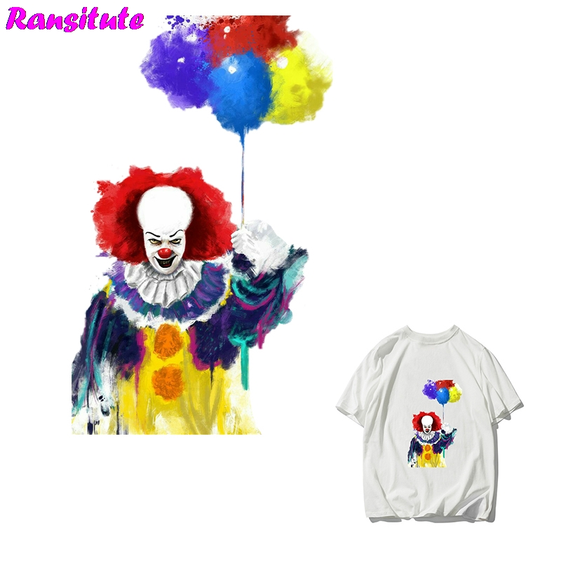 R285 Horror Movie It Personality Patch DIY Clothing Printing Badge T-shirt Sweater Thermal Transfer Washable Heat Transfer