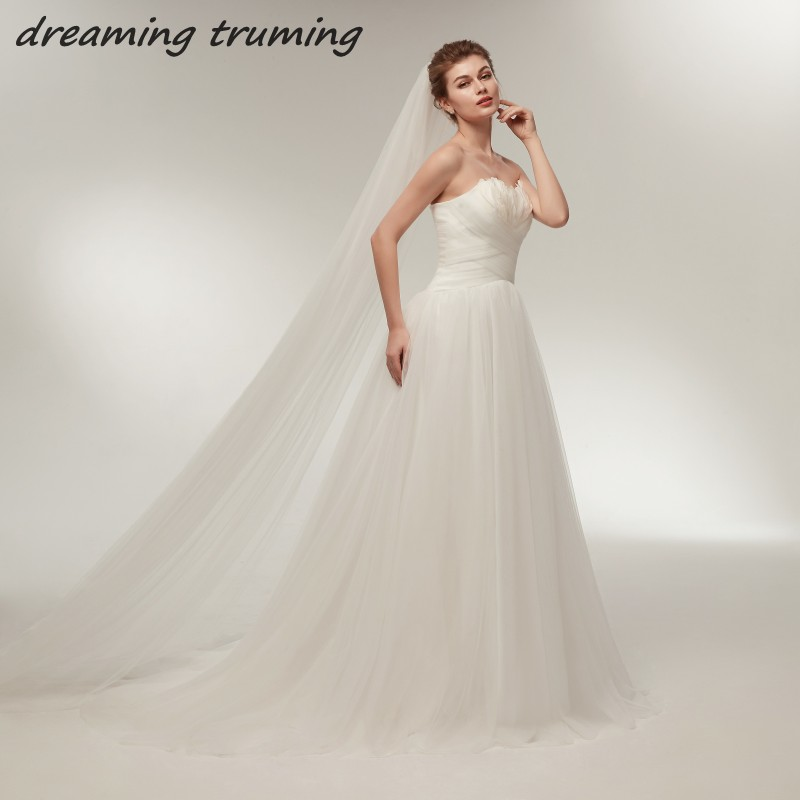 Discount Classic A Line Lace Wedding Dress 2018 Affordable: Cheap A Line Wedding Dress 2018 White Ivory Sweetheart