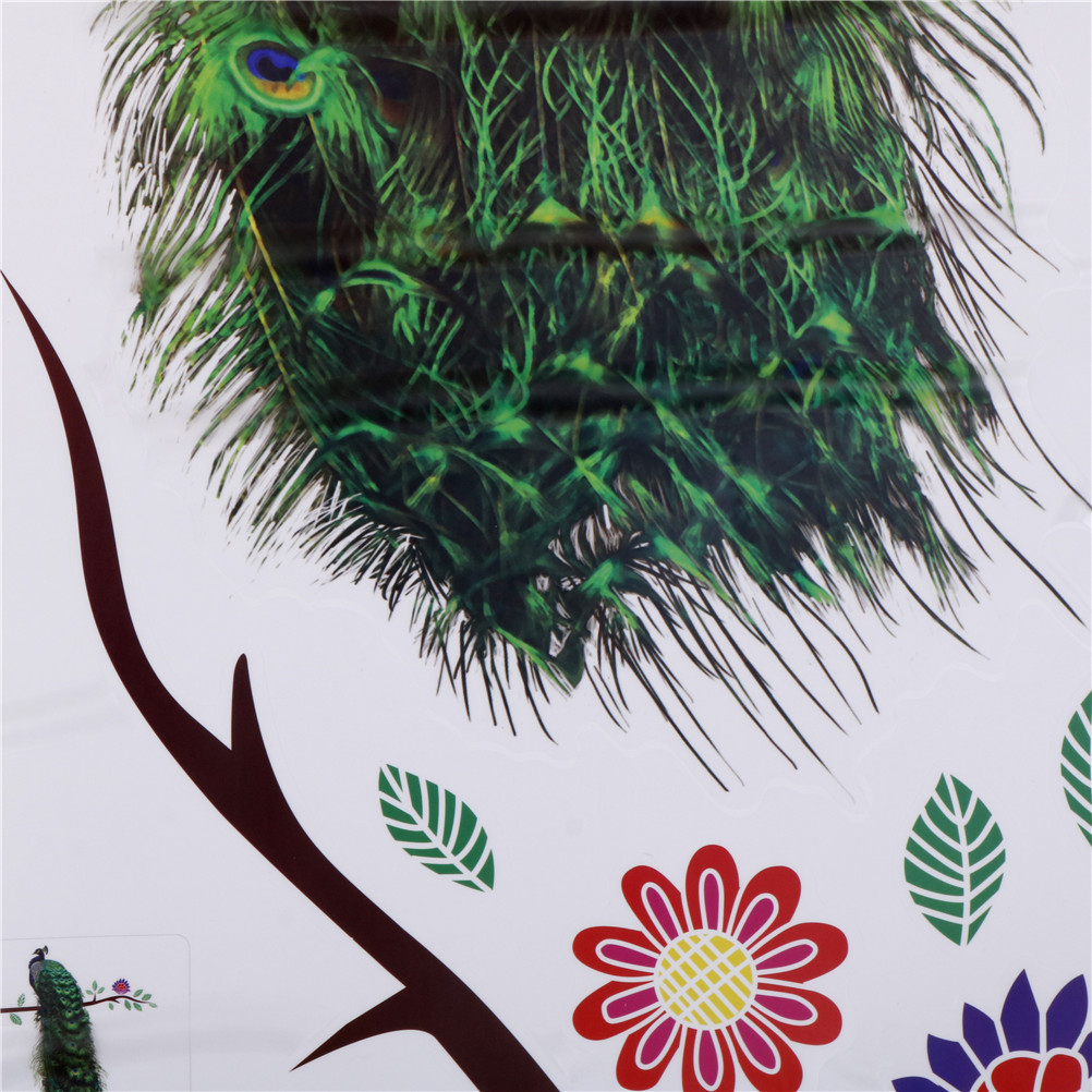 3D Vivid Colourful Peacock On Branch Decal Poster Sticker Home Wall Art Decor