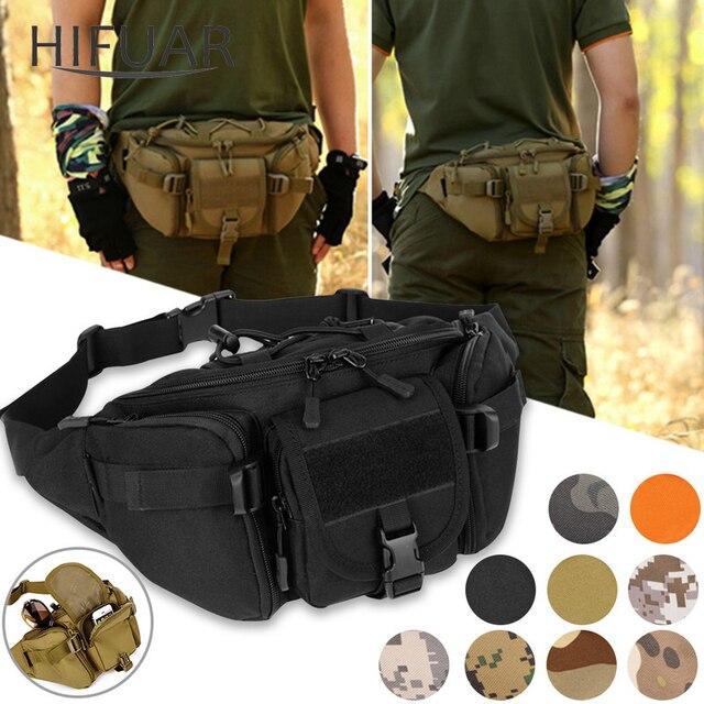 Nouveaux hommes Hip Packs en plein air sac étanche mâle tactique taille sac Molle système poche ceinture sac à dos sacs de sport militaire
