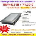 FriendlyARM Quad core de La Corteza A9 TINY4412 Estándar III SDK1312 + S702 táctil Capacitiva 1G RAM 4G eMMC Placa de Desarrollo Android 4