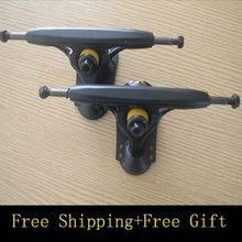 free shipping hot sale 6″ black longboard skateboard trucks  Aluminium long board trucks 5set/lot
