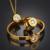 De Acero Inoxidable de alta Calidad 7 Colores Intercambiables CZ Anillo de La Joyería de Dubai Pulsera Collar Cristalino de La Joyería para Las Mujeres