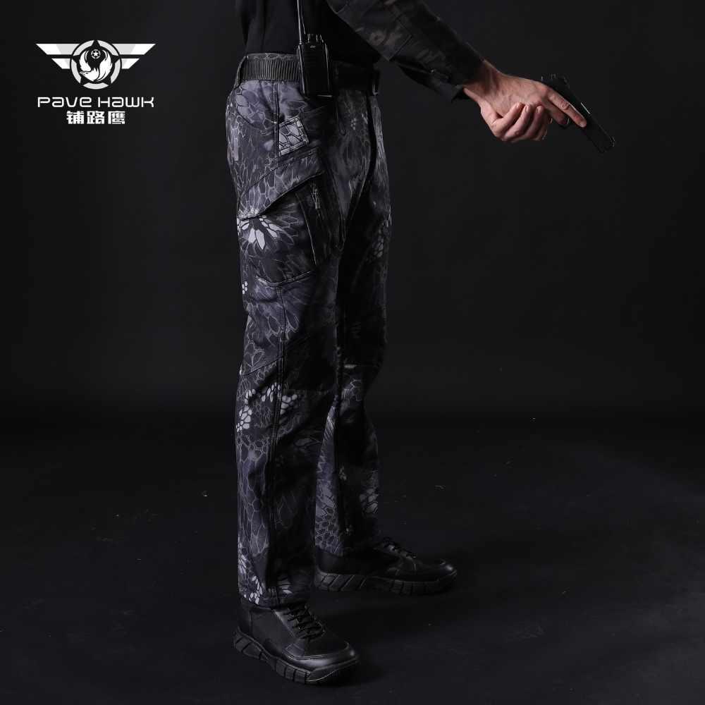 IX9 冬の戦術防水ソフトシェルフリースカーゴパンツ男性軍事迷彩軍男カジュアルなズボンの女性
