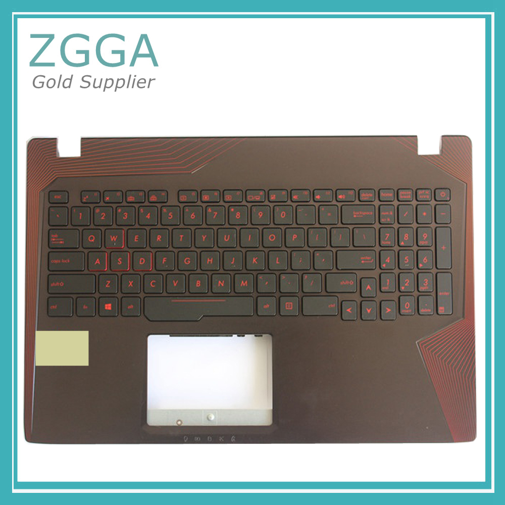 Genuine Laptop Palmrest Upper Cover for Asus Rog GL553 GL553V GL553VD GL553VE GL553VW With US Keyboard Russian Backlit us laptop keyboard for asus gl553 gl553v gl553vw zx553vd zx53v zx73 fx553vd fx53vd fx753vd fz53v english keyboard with backlit