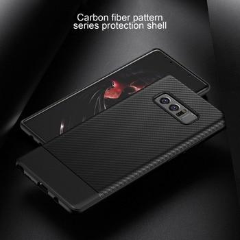Купить 10 шт. новые мягкие углеродного волокна чехол для samsung Galaxy Note 8 анти-осень противоударный ТПУ чехол телефона смартфон чехол на Алиэкспресс