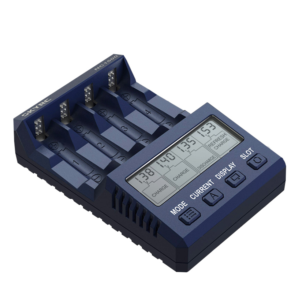 SKYRC NC1500 5V 2.1A 4 Slots LCD AA/AAA NiMH Battery Charger Discharger & Analyzer For RC Drones FPV Quadcopter Power Charging