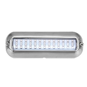 Image 3 - 39 led 5.2 w 수 중 폰툰 보트 transom 빛 12 v 화이트 블루 해양 보트 요트 빛 316ss 커버 방수