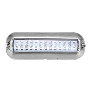 Image 3 - Luz de cruce de barco pontón sumergible de 39 LED de 5,2 W, 12 V, cubierta impermeable azul blanca para yate o barco marino 316SS