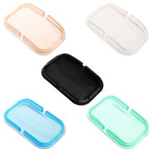 Anti Slip Pad Mobile Phone Stand Shelf Silicone Mat Car Sticky Dashboard GPS MP3 DVR Tablet Holder for iPhone Huawei Samsung