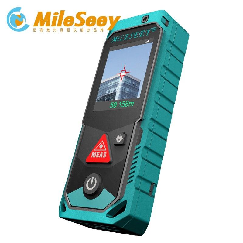 Mileseey P7 80 м 100 м 150 м 200 м Bluetooth лазерный дальномер с поворотным Сенсорный экран Rechargerable лазерный измеритель