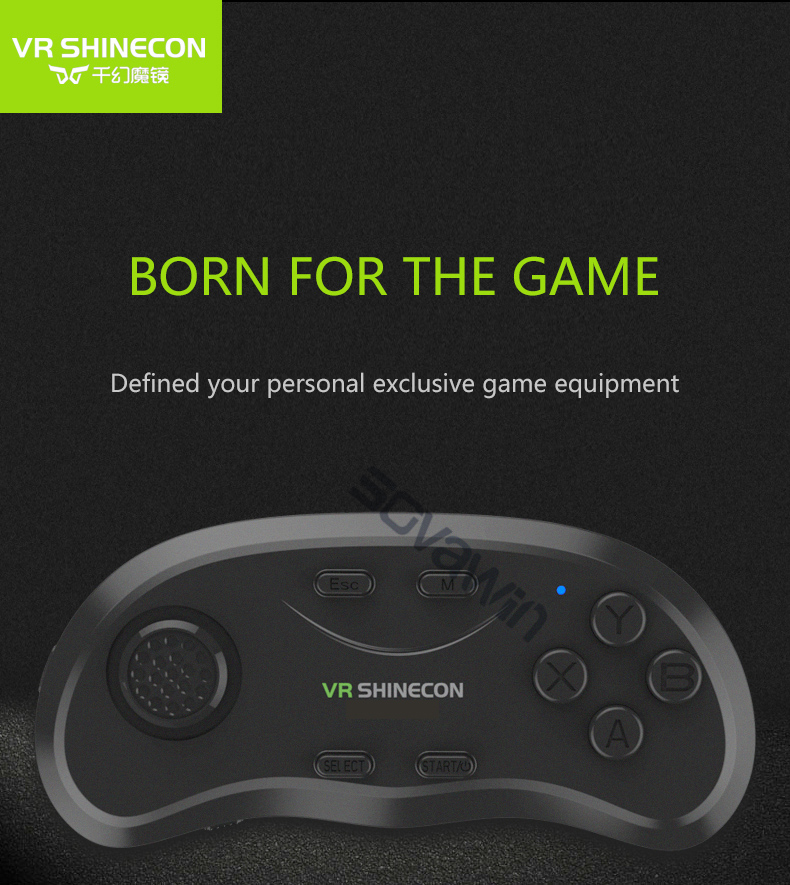 Shinecon Universal VR <font><b>Controller</b></font> Wireless <font><b>Bluetooth</b></font> <font><b>Remote</b></font> <font><b>Joystick</b></font> <font><b>Gamepad</b></font> Music Selfie 3D Games for IOS Android PC TV image