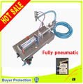 Free Shipping fully pneumatic filler liquid or paste filling machine, pneumatic, semi auto filler, single head liquid filler
