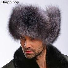 Горячие высокого класса люкс меховая шапка мужская меха лисы шапка Лэй Фэн крышка уха шапка меховая необходимо шляпа