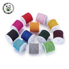 1 мм Разноцветные эластичные Cord Jewelry findings для самостоятельного изготовления ювелирных изделий около 21 м/рулон, 10 рулонов/лот