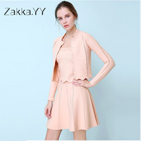 2017 Hot Sale Women Spring And Summer New European And American S Hollow Jacquard Slim Solid