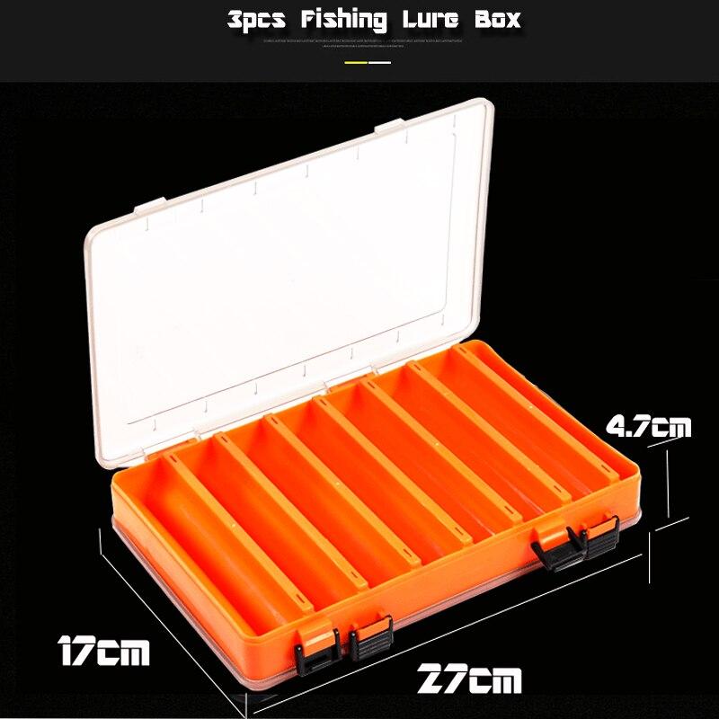 Sacs de pêche sac de matériel de pêche 29x22x18 cm multi-usages étanche avec deux boîte de leurre de pêche boîte d'attirail Double face - 4
