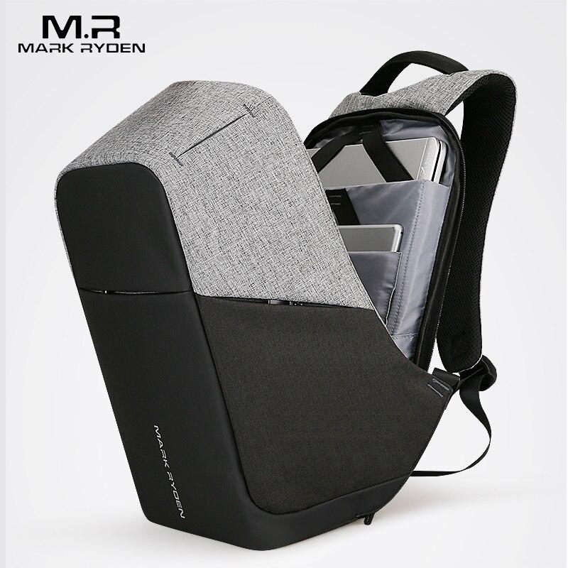 Multifunción USB cargador hombres 15 inch Laptop mochilas para adolescente moda masculina Mochila ocio Mochila anti ladrón