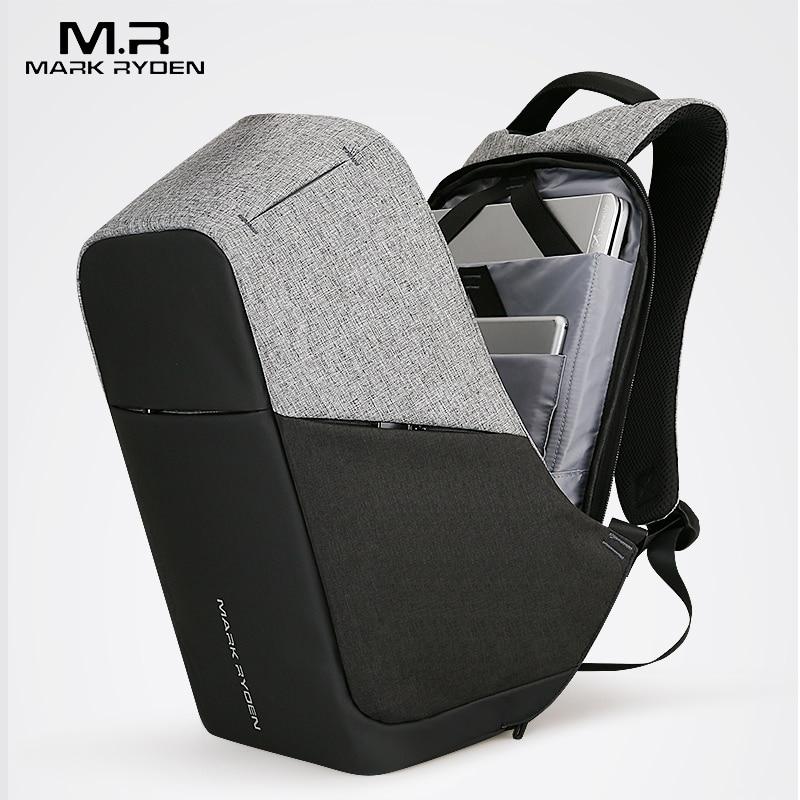 Multifunción USB cargador hombres 15 pulgadas portátil mochilas para la manera del adolescente mochila masculino viajes ocio mochila anti ladrón