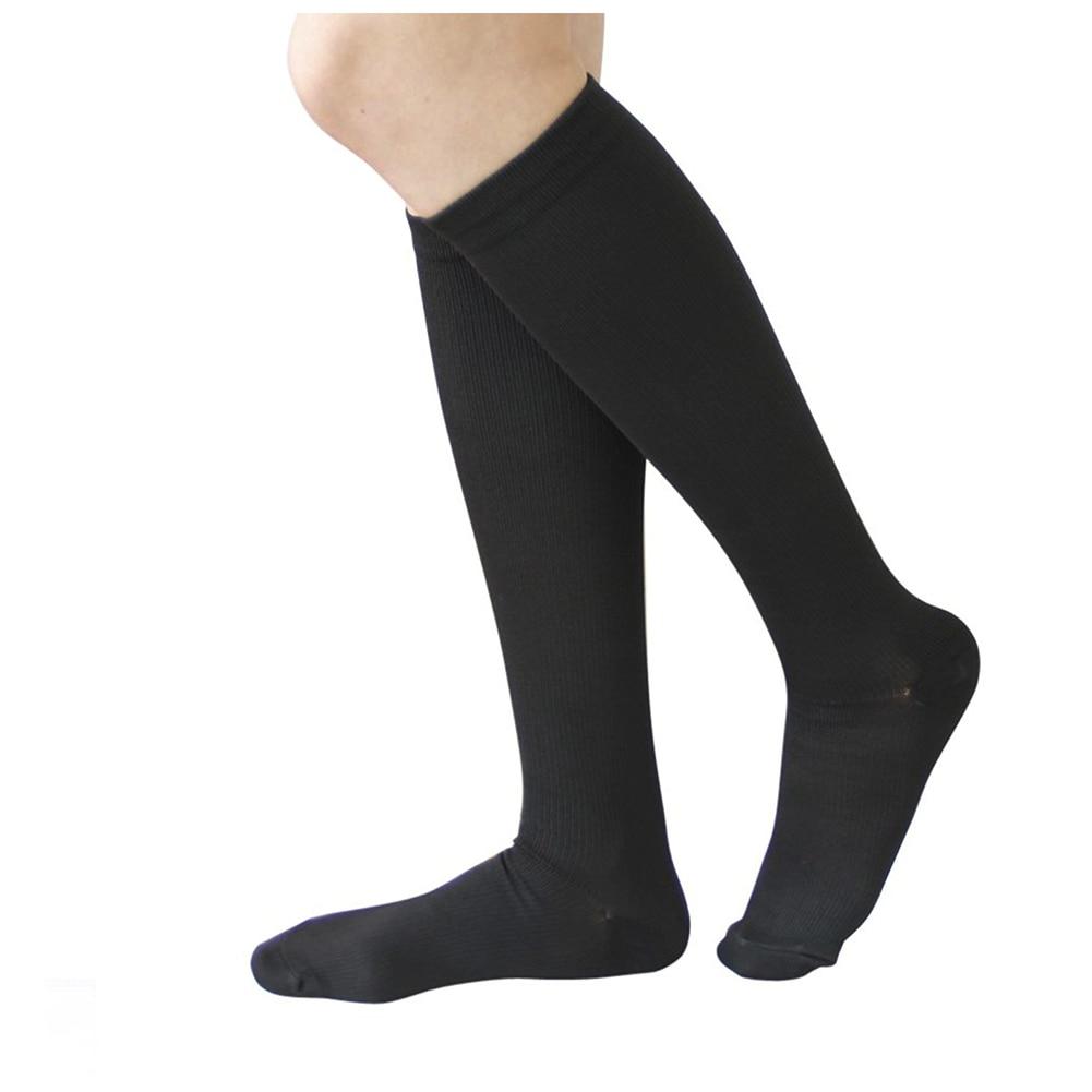1 Pair Compression Socks Anti Fatigue Black for Men EU 38-42