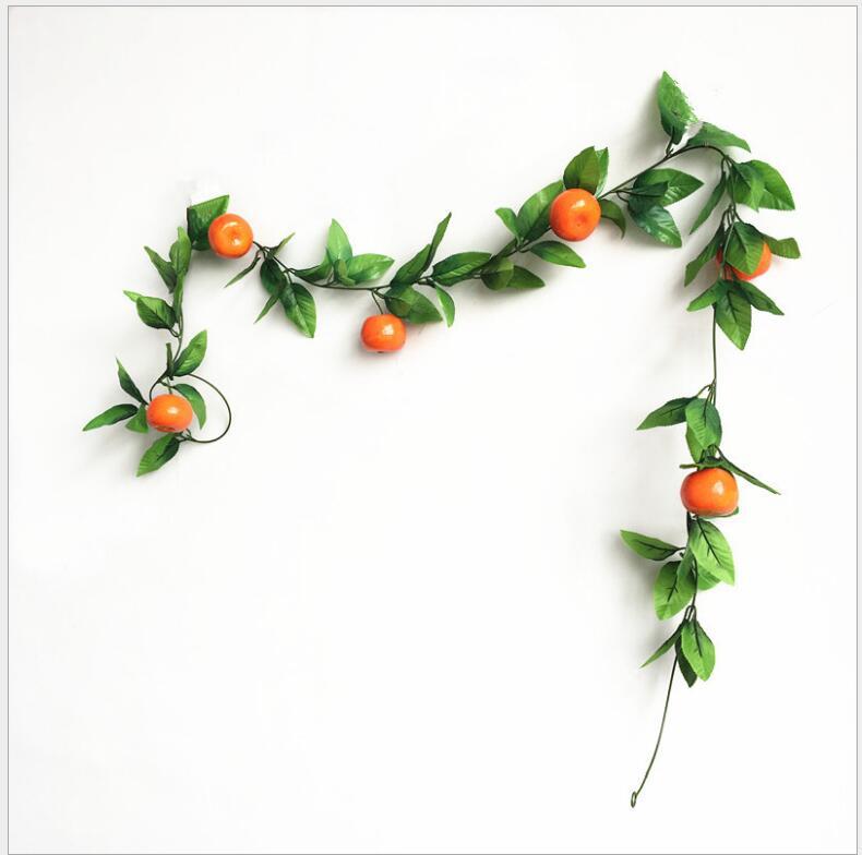 Fleurs artificielles 1 fruits mousse légumes, magasin de fruits en rotin, ferme joyeux jardin d'enfants plafond, fausses feuilles plantes vignes - 6