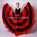 Hot Sale New 2015 Discount Spanish Bullfight Belly Dance Dress Skirt Long Flamenco Skirts Red Flamenco Dresses For Girls