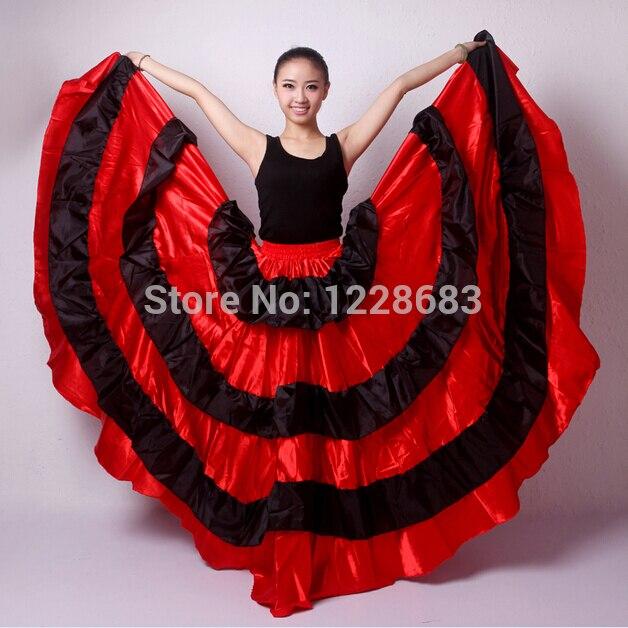 e5eb8fd053 Venta caliente nuevo descuento españolas vestido de la danza del vientre Falda  larga faldas de Flamenco rojo vestidos para niñas en Flamenco de La novedad  y ...