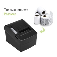 POS 8220 Portable Wireless WIFI POS Thermal Receipt Printer 80mm Auto Cutter USB+WIFI Waterproof Oil proof Thermal Printer