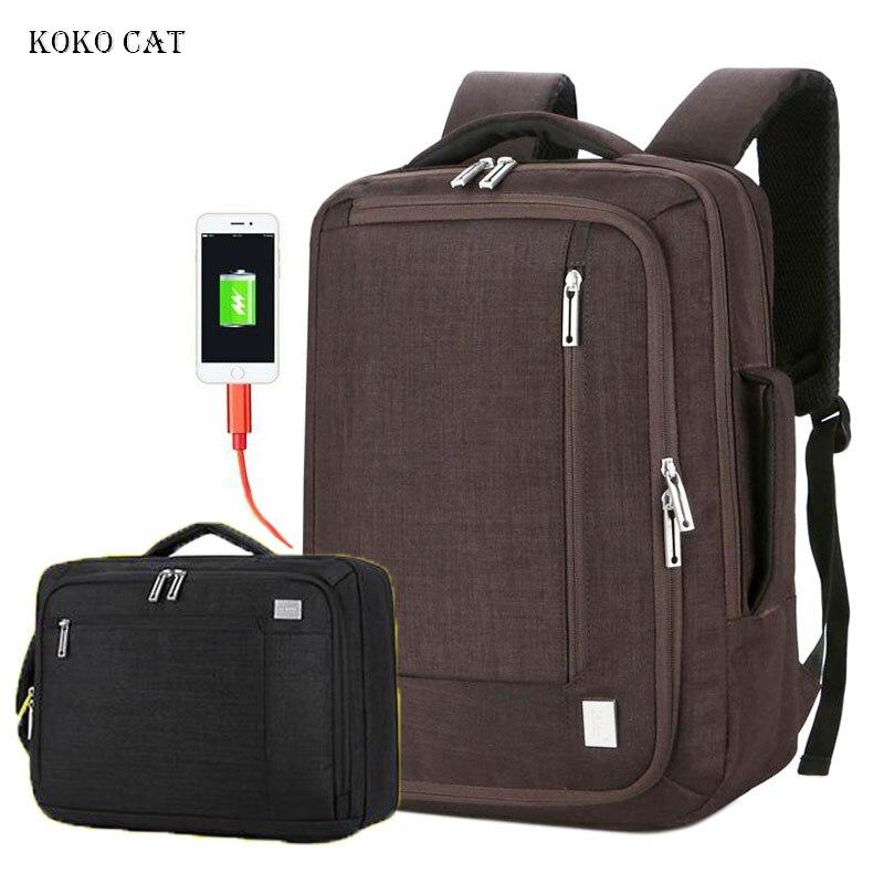 Étanche 16 pouces sac à dos pour ordinateur portable Anti-vol hommes sac à dos USB charge voyage adolescent sac à dos pour hommes mâle sac à dos mochila