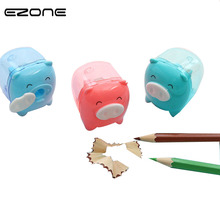 Stationery Pencil-Sharpener School-Supply Animal Cute Kawaii Gift EZONE 1PC Candy-Color