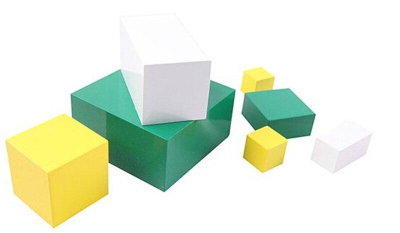 Juguete de madera para bebé Juguete Montessori Power of 2 Cube Math - Educación y entrenamiento - foto 4