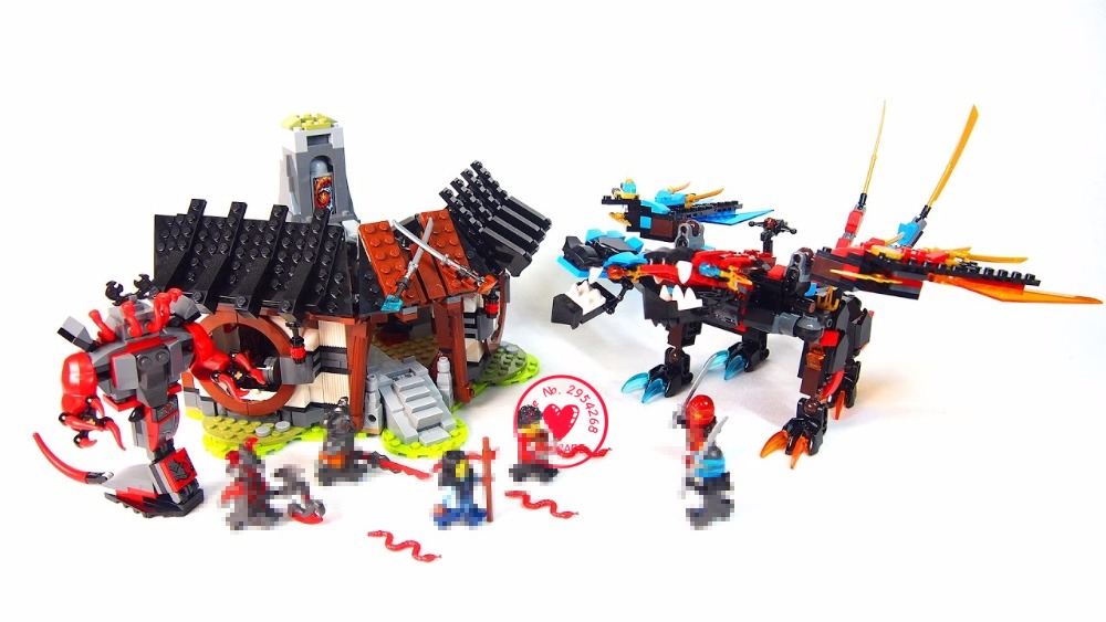 lepin 06041 Ninja Series Of Dragon Forging Assembled diy model Building Blocks Bricks Toys Compatible 76027 kid gift set ninja 2017 new dragon s forge 70627 building kit compatible with 06041 ninja bricks models building blocks toys for childrens gifts