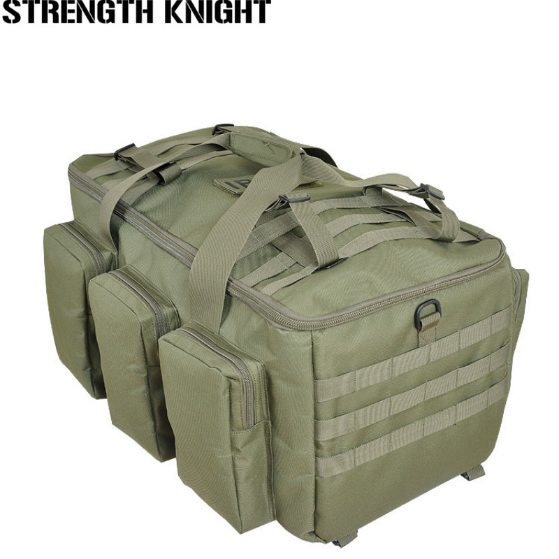 Free Shpping Camouflage Multifunctional Luggage Bag Large Capacity Bag Men's Military Backpack 55L Travel Rucksacks цены