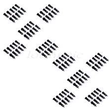 100Pcs New Cylinder Stereo Flush Mount Jack Low Noise For Electric Guitar Bass Replacement