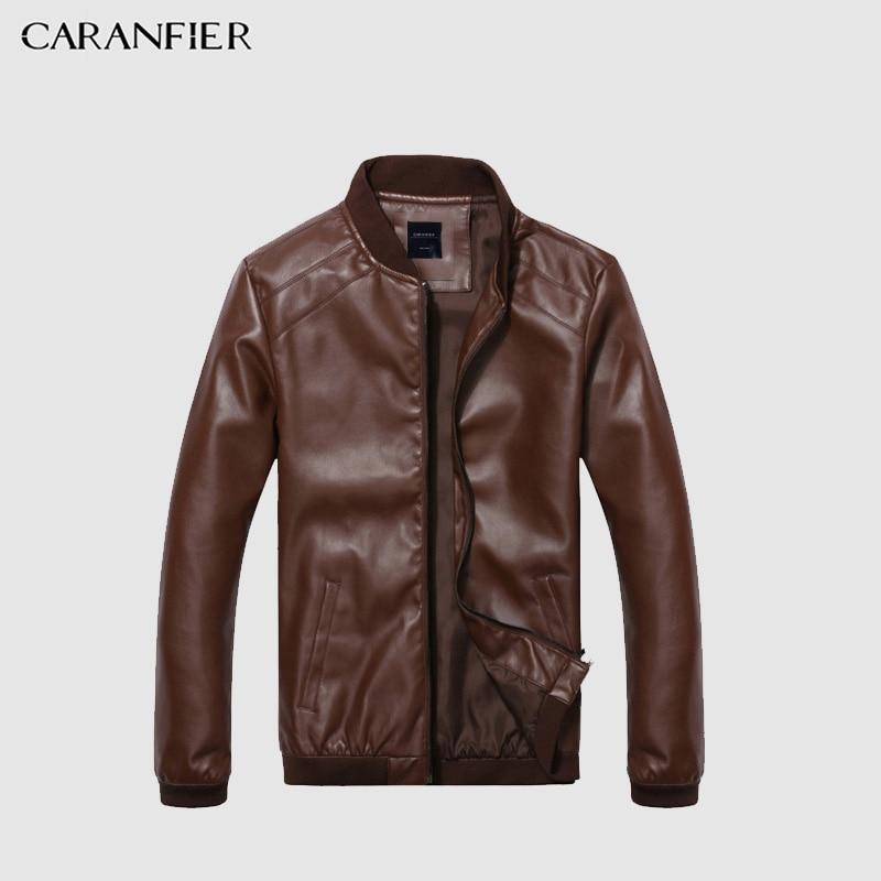 CARANFIER Leder Jacke Männer Frühling Herbst Dünne Jacke Männer Slim Fit Mantel Top Qualität Boutique Marke Casual denim Jacken Mode