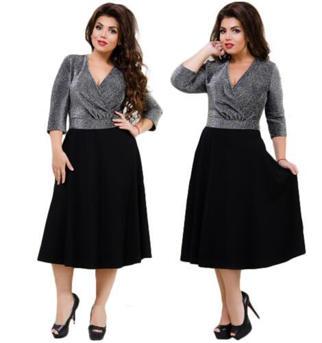 4bb8f1ea1c2 ... 2018 sexy party dress flare black summer dress plus size 5XL 6XL women  dress deep v-neck wrap dress female Vestidos