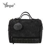 YBYT Brand 2017 New Fashion Casual Women Handbag Hotsale Ladies Large Capacity Solid Rivet Bag Shoulder