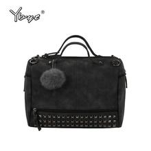 YBYT marke 2017 new fashion casual women handtasche hotsale damen großraum solid nietbeutel schulter messenger crossbody taschen