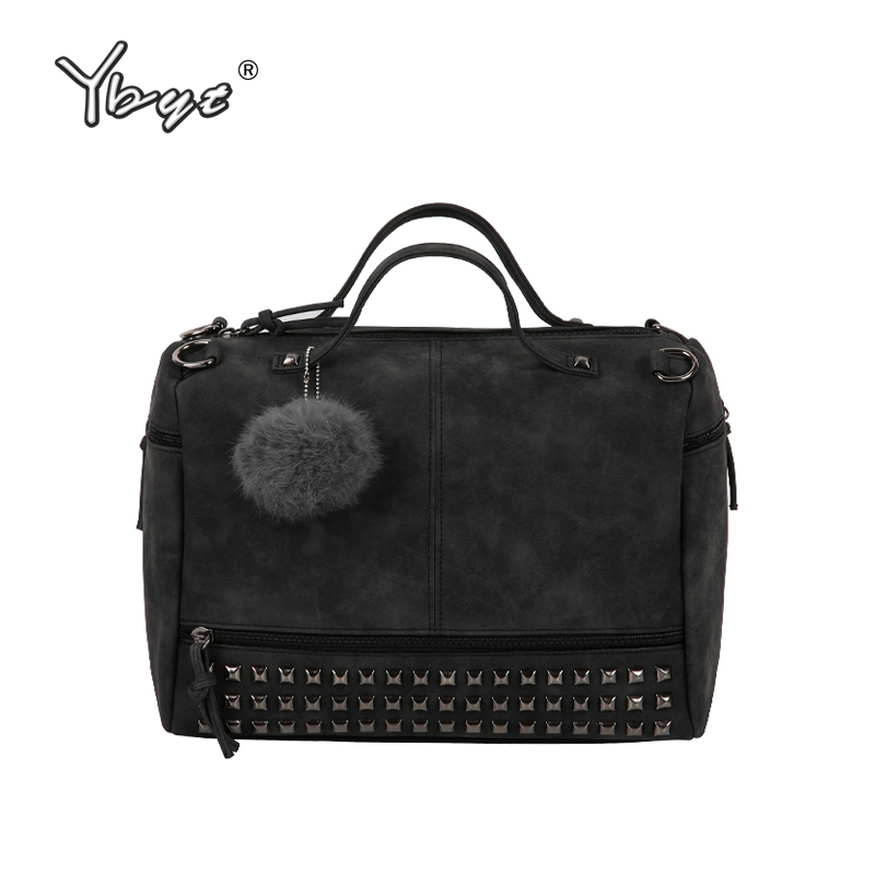 YBYT brand 2018 new fashion casual women handbag hotsale ladies large capacity solid rivet bag shoulder messenger crossbody bags new arrival messenger bags fashion rabbit fair for women casual handbag bag solid crossbody woman bags free shipping m9070