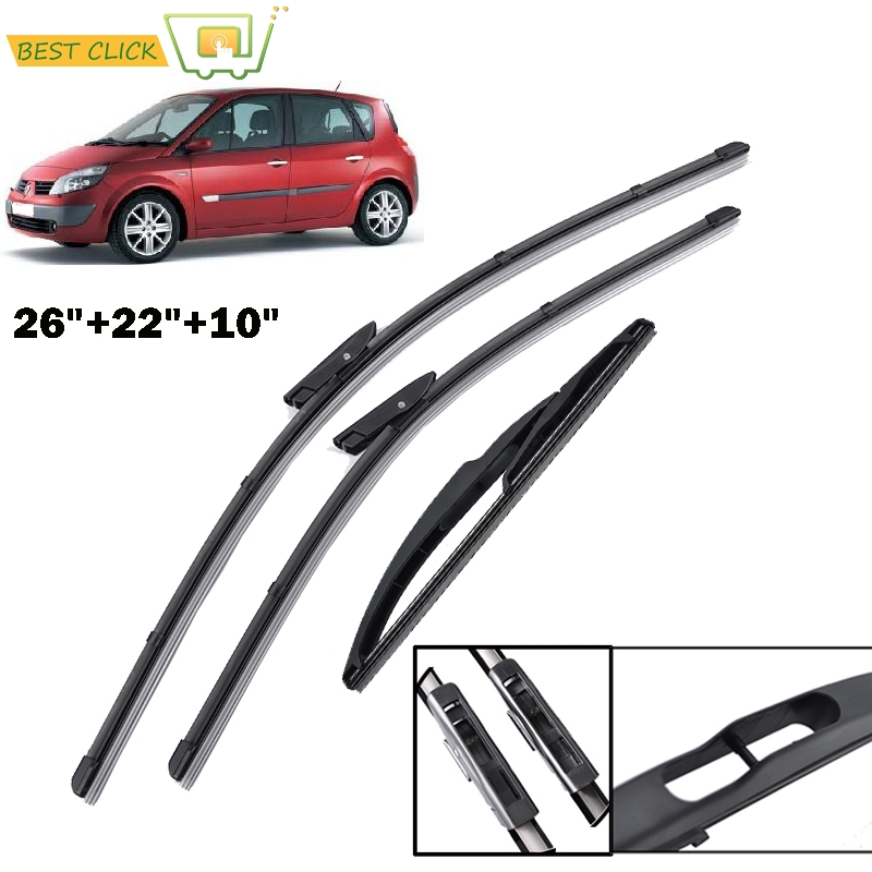 Front and Rear Blades LEGACY Estate Sep 2003 to Dec 2009 Windscreen Wiper Blade Set 3 x Blades
