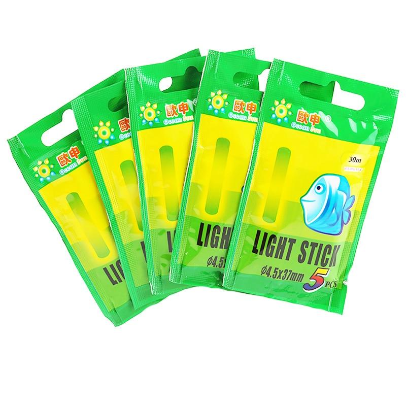 10/25/50pcs 4.5*37mm Night Fishing Luminous Float Fluorescent Light Stick Rod Multi-Color LightsDark Glow Stick