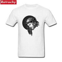 Custom Designed Jesus Cameo Tees Shirt Males Short Sleeve Cotton XXXL Tshirt