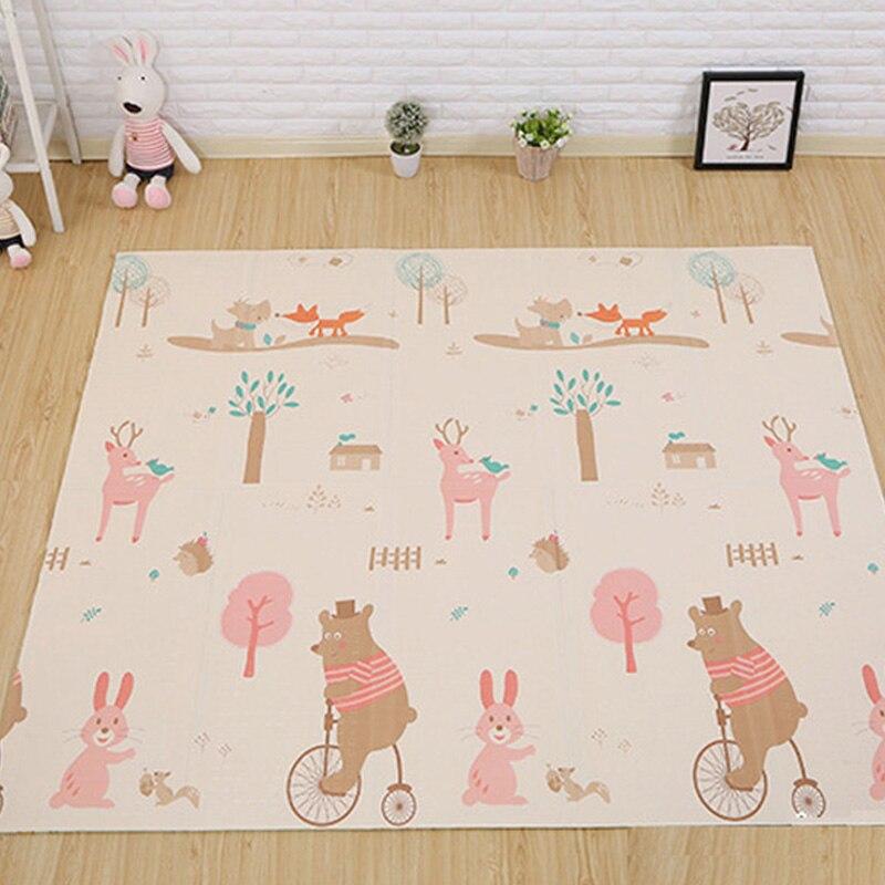 Pliable bébé jouer Double face tapis épaissi Tapete infantile maison bébé chambre Puzzle tapis XPE épissage enfant escalade tapis