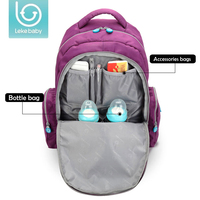 Lekebaby Diaper Bag Mummy Maternity Large Capacity Nappy Stroller Bag Straps Baby Travel Backpack Nursing for Baby Care Mother