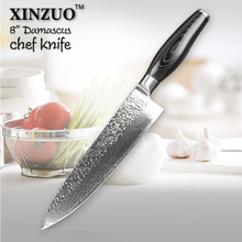 XINZUO 8″ inch chef knife Japanese Damascus kitchen knife woman chef knife Color wood handle high quality sharp free shipping