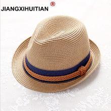 04749576327fc 2018 Summer Jazz Women Straw Hat Beach Men Sun Hat Casual Panama Male Cap  Hemp Rope